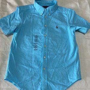 RALPH LAUREN, Boys Short Sleeve Button Down Shirt